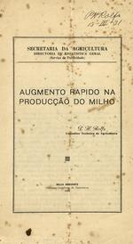 Augmento Rapido Na Producqas do Milho, by P.H. Rolfs. 1931