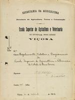 ESAV, Regulamento, Tabellas e Programmas da 1926.