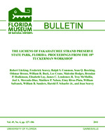The Lichens of Fakahatchee Strand Preserve State Park, Florida : proceedings from the 18th Tuckerman Workshop