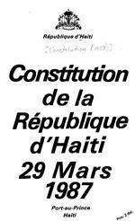 Constitution de la République d'Haiti, 29 mars 1987