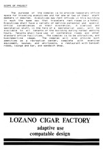Program for executive center : Lozano cigar factory adaptive use and compatible design