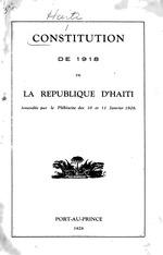 Constitution de 1918 de la République d'Haïti