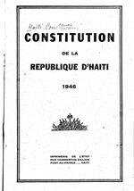 Constitution de la République d'Haïti, 1946