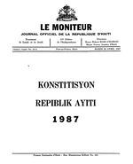 Konstitisyon Repiblik Ayiti, 1987