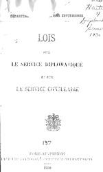 Lois sur le service diplomatique et sur le service consulaire