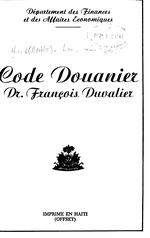 Code douanier Dr. François Duvalier