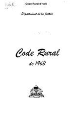 Code rural de 1963