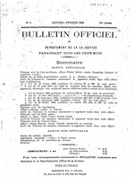 Bulletin officiel du Département de la Justice, V.1-8, no. 3, Oct./Nov. 1906-Sept. 1914