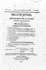 Bulletin officiel du Département de la Justice, V.1-8, no. 3, Oct./Nov. 1906-Sept. 1914