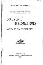 Documents diplomatiques. Affaires diverses, 1921