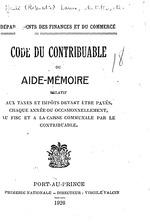 Code du contrib uable ou aide-memoire relatif aux taxes…, 62p