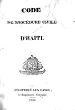 Code de procédure civile d'Haïti