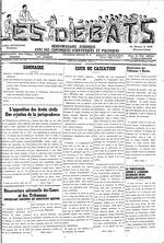 Les Debats; Organe juridique avec des chroniques scientifiques et politiques, 1951-1957,