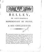 Belley, de Saint-Domingue, représentant du people, a ses colleagues: Belley, 7p,