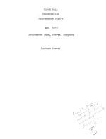 Floyd Hall fenestration maintenance report