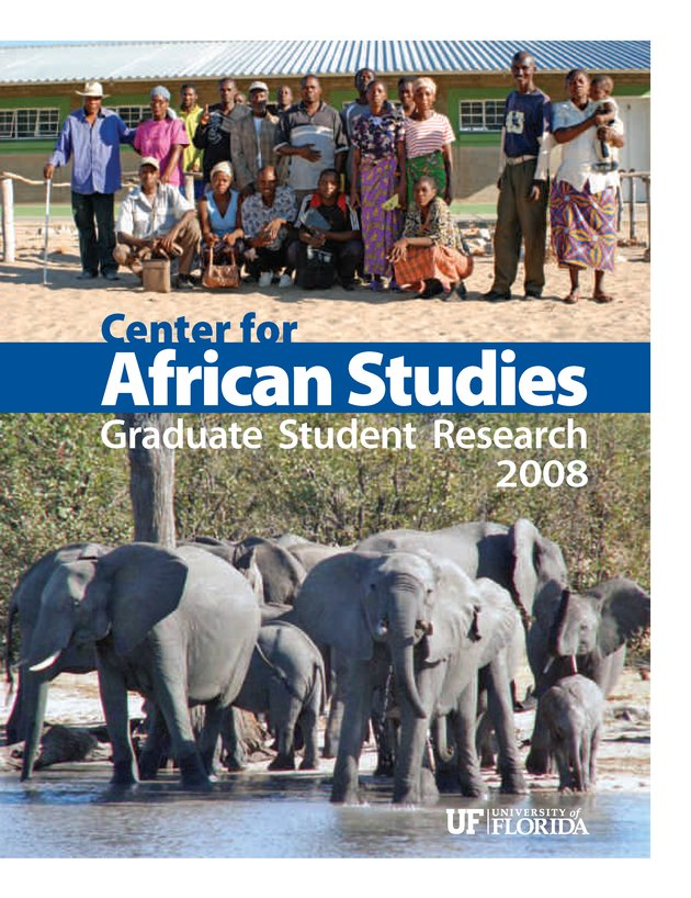 Center for African Studies research report - Front Cover