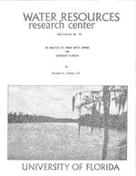 Analysis of urban water demand for southeast Florida