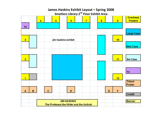 James Haskins Exhibit Layout – Spring 2008 - Page 1