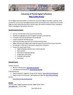 University of Florida Digital Collections : Digital Scholarship Support ( Handout )