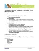 Standard Information for Onsite Interns with the UF Digital Library Center (DLC)