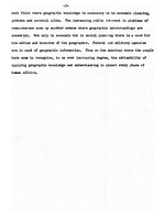 """Paper by Sigismond Diettrich entitled, """"The Impact of Geography on Modern American Life,"""" October 20, 1953 (3 pages)"""