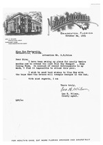 Letter from Leo H. Wilson to G.E. Price regarding the Florida Blue Key banquet, October 24, 1931