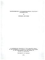 Electrochemistry in microheterogeneous solutions -- microemulsions
