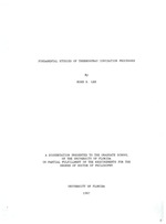 Fundamental studies of thermospray ionization processes