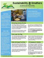 Sustainability @ Smathers : UF Libraries Green Team newsletter