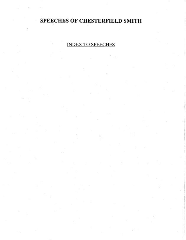 Index of Chesterfield Smith speeches, 1956-2003 - Page 1
