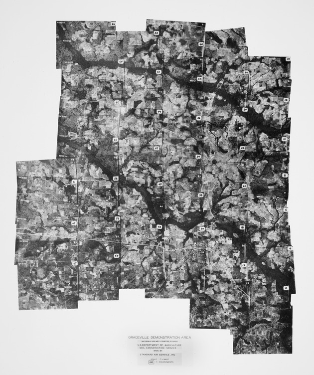 Aerial photograph of the Graceville Demonstration Area in Jackson and Holmes Counties, Florida (circa 1935)