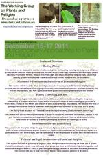 Multidisciplinary Approaches to Plants and Religion : Inaugural Conference, December 15-17, 2011 ( Poster )