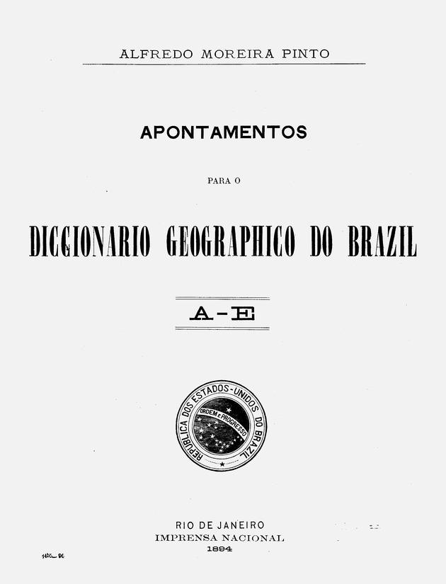 Apontamentos para o Diccionario geographico do Brazil - Page iii