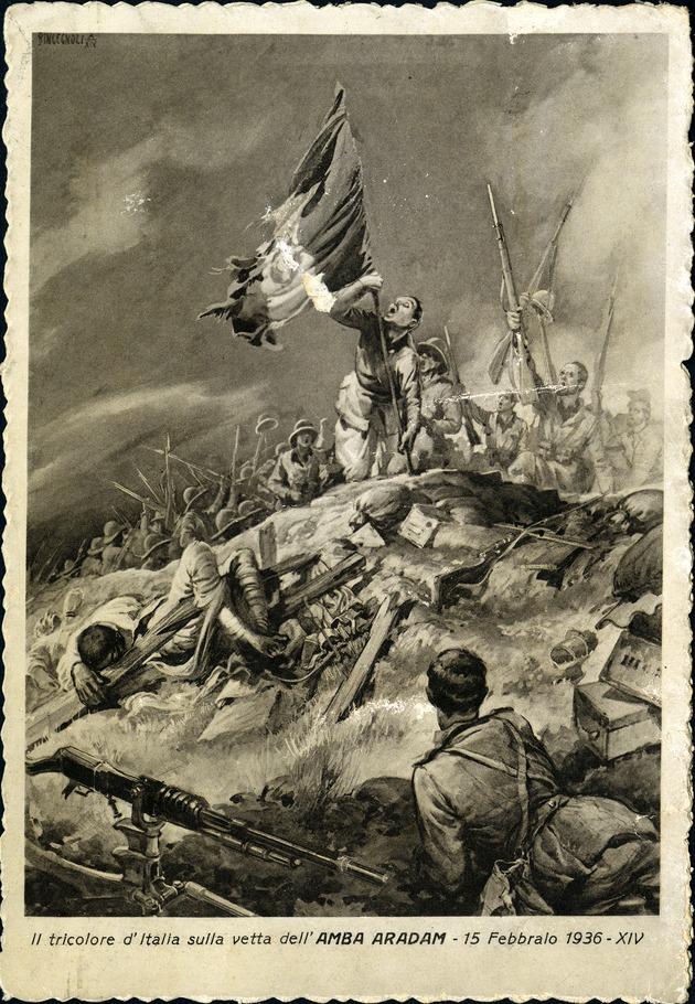 Gli Avvenimenti Illustrati series IEAPC 013 war propaganda postcards - Recto