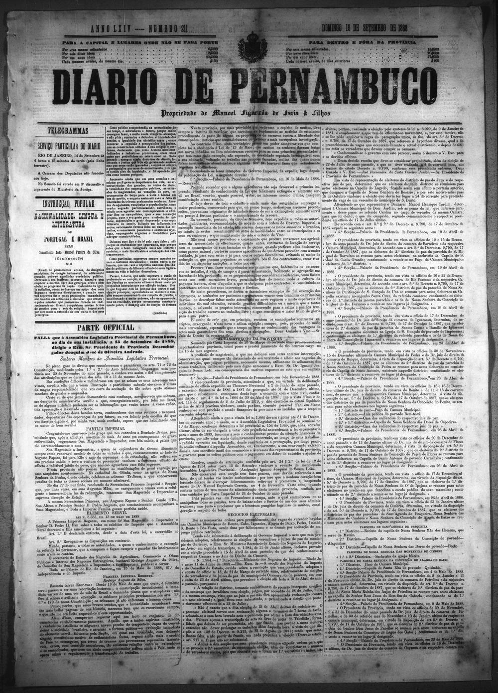 Diario de Pernambuco - Page 1