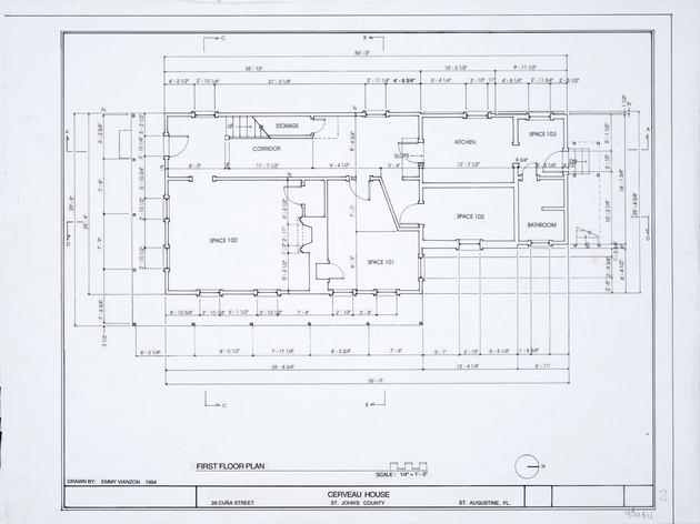 Cerveau House - First Floor Plan