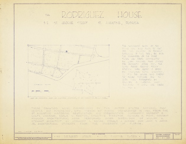Rodriguez House - Untitled Site Map (Historic American Buildings Survey)