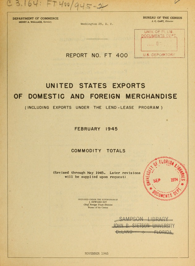united states exports of domestic and foreign merchandise including rh ufdc ufl edu