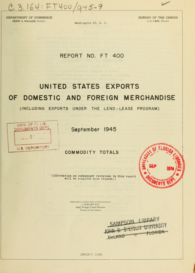 United States Exports Of Domestic And Foreign Merchandise Including