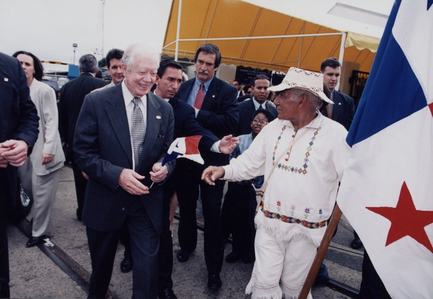 Jimmy Carter and Panamanian man with flags - Page 1