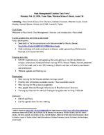 Data Management / Curation Task Force, Meeting Notes, Feb. 22, 2016