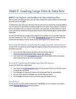 IR@UF: Loading Large Files & Data Sets