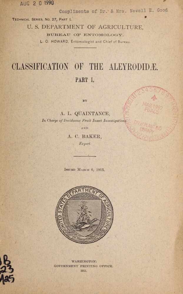 Classification of the Aleyrodidae