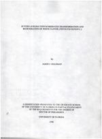 In vitro agrobacterium mediated transformation and regeneration of white clover (Trifolium repens L.)