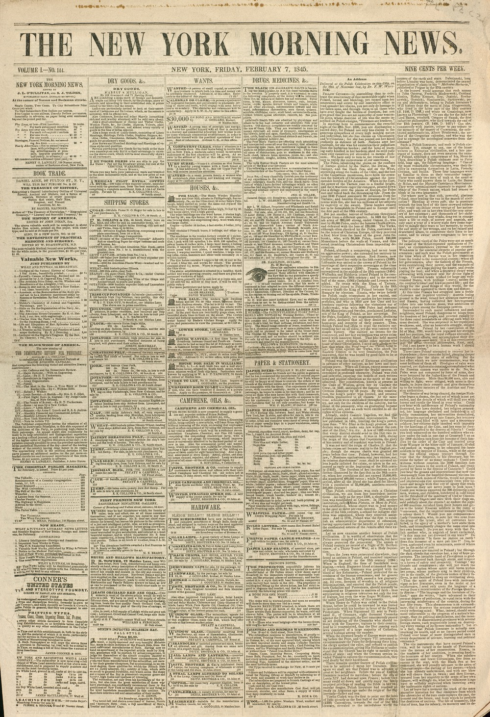 Material Information. Title: The New York ...