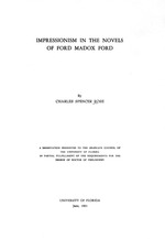 Impressionism in the novels of Ford Madox Ford