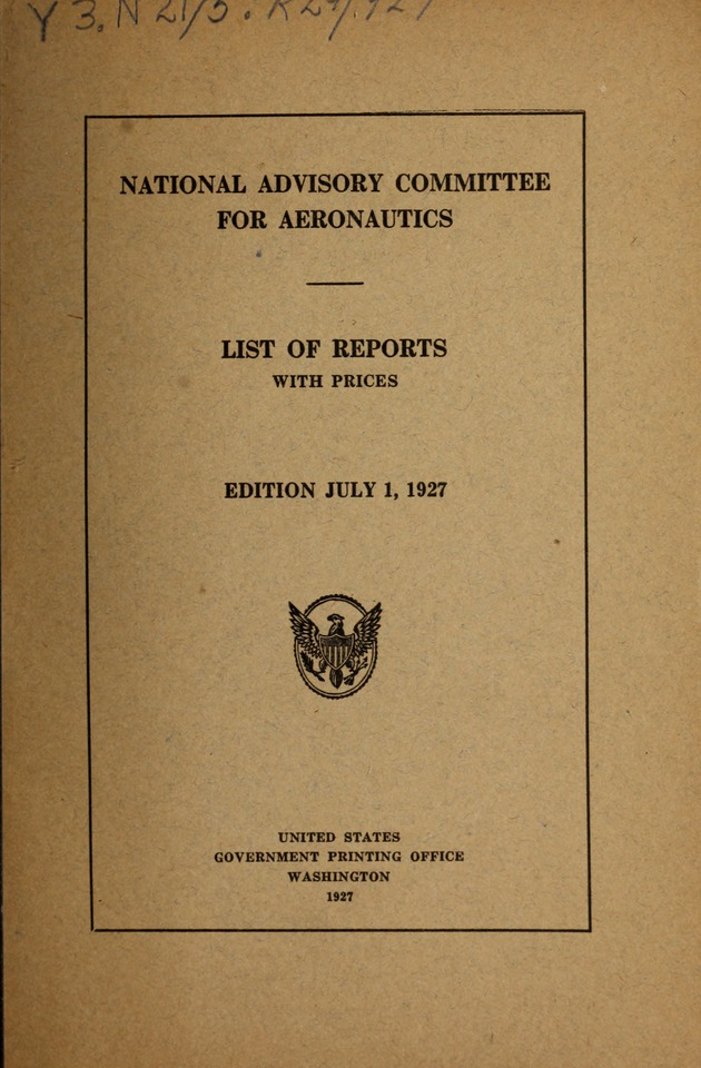 List of reports with prices - Front Cover 1