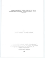 Learning and policy change : the case of Swedish International Development Cooperation Agency (Sida) 1980-1995