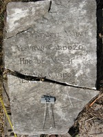 Gravestone 92, Hunt's Bay Jewish Cemetery (Last Name: Cardozo, First: Yshack, Middle: Yesvrun, Title: son)