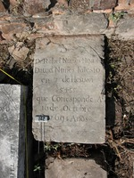 Gravestone 102, Hunt's Bay Jewish Cemetery (no survey form included; images only)